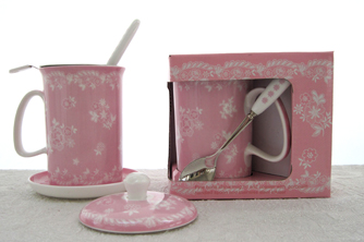 Vintage Lace Tea In Fuser Set, 5 Piece
