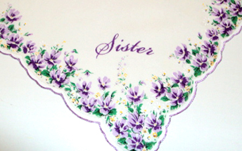 Sister Violet Handkerchief, Free Shipping!