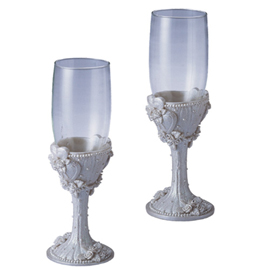 Wedding Champagne Glasses, Set Of 2