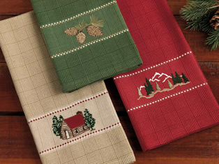 Lodge Woodland Hand Or KitchenTowels, Set Of 3