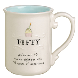 Age 50 Birthday Mug, Cupcake