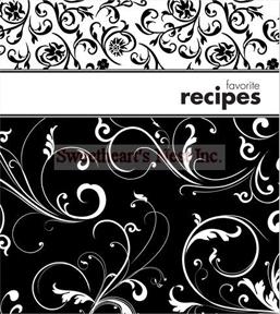 Contemporary Black & White Recipe Journal