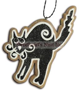 Halloween Gingerbread Cookie Ornament, Black Cat, Lee Walker Shepherd, Bethany Lowe, Free Shipping!!
