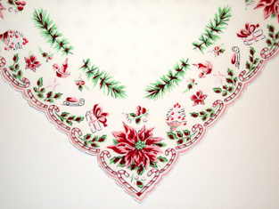 Candy Canes & Christmas Presents Handkerchief, Free Shipping!