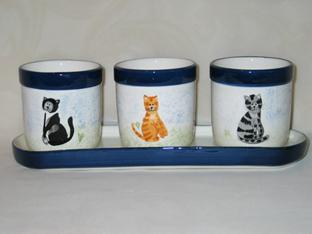 Cat Planter Set, 4 Piece Set