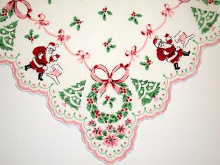 Classic Christmas Santa Handkerchief, Free Shipping!