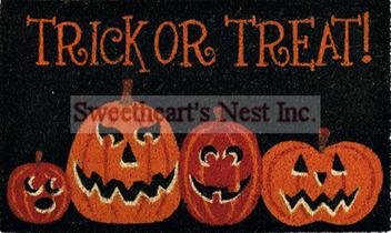 Halloween Trick Or Treat Coir Doormat