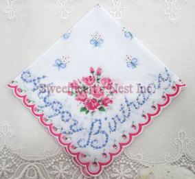 Happy Birthday Handkerchief, New! Free Shipping!