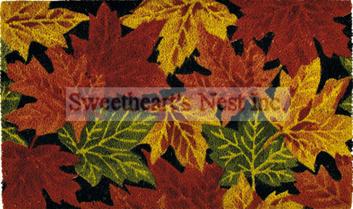 Harvest Leaves Coir Doormat