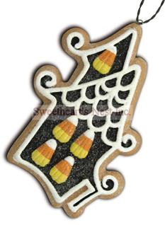 Halloween Gingerbread Cookie Ornament, Haunted House, Lee Walker Shepherd, Bethany Lowe, Free Shipping!