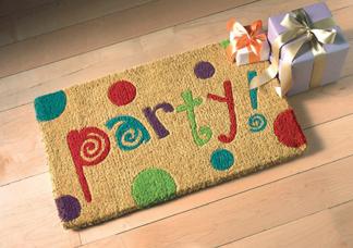 Party Rug, Coir Doormat