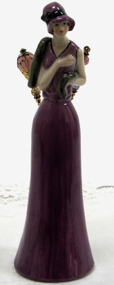Victorian Purple Hat Pin Doll, New Lower Price!