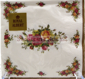 Royal Albert Old Country Roses 20 Luncheon Napkins In A Pack