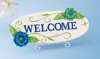 Springtime Welcome Plaque