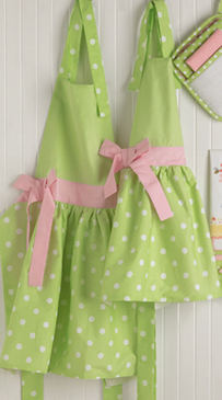 Tea Time Polka Dot Mother & Daughter Apron Set Or Purchase Individually