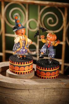 Trixie & Treat Halloween Boxes, Mary Engelbreit, Set of 2