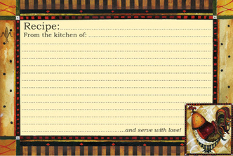 Tuscan Rooster Recipe Cards
