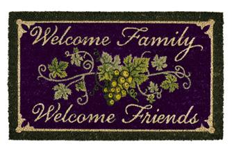 Vineyard Welcome Family Doormat