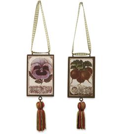 Vintage Seed Packet Ornaments, Set Of 4