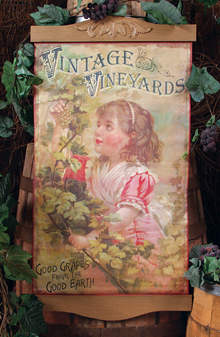 Vintage Vineyards Wall Hanging
