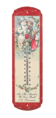 In The Meadow We Can Build A Snowman, Vintage Thermometer
