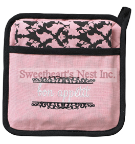 Paris Bon Appetit Gift Set, Potholder & Dish Towel