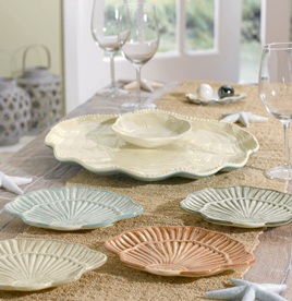 Clam Shells Appetizer Plates, Set Of 4