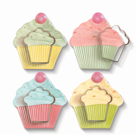 Cupcake Cookie Cutter & Plate Set With Sugar Cookie Recipe