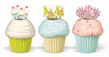 Cupcake Party Pick Sets, Set Of 3