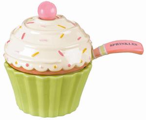 Cupcake Sprinkles Bowl With Spoon