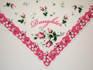 Daughter Handkerchief, Free Shipping!