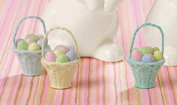 Easter Basket Ornaments, Set of 3