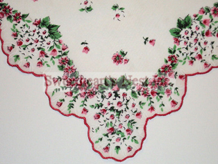 Floral Garland Handkerchief, New! Free Shipping!