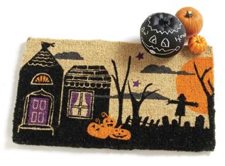 Halloween Night Scene Doormat