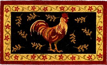 Rooster Coir Doormat
