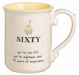 Age 60 Birthday Mug, Cupcake