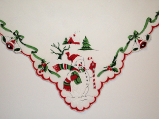 Holiday Snowman Handkerchief, Free Shipping!