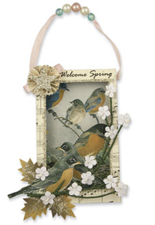 Songbird Shadow Box Ornament., Bethany Lowe