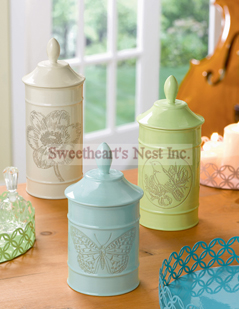 Tranquility Canisters, Set of 3