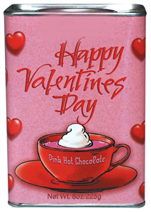 Happy Valentine's Day Pink Hot Chocolate