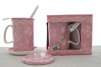 Vintage Lace Tea In Fuser Set, 5 Piece